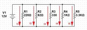 Ejemplo circuitos eléctricos paralelo