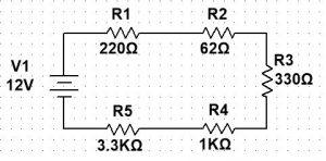 Ejemplo circuitos eléctricos serie