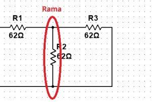 Ejemplo de rama en circuitos eléctricos