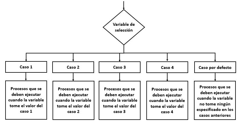 Estructura de la instrucción Switch - Case